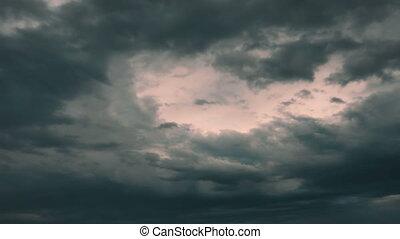 dark clouds time lapse