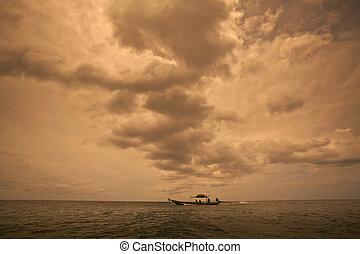 dark cloudy stormy sky