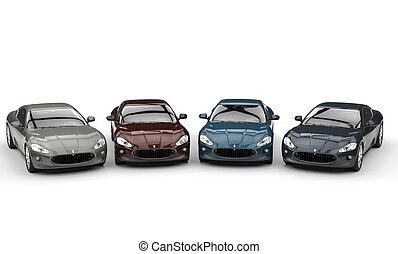 Dark Colored Fast Cars
