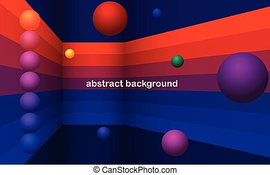 dark colors abstract background with balls