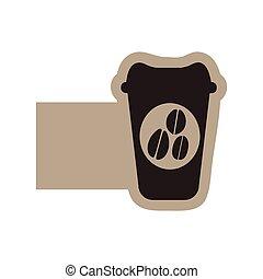 dark contour coffee espresso icon