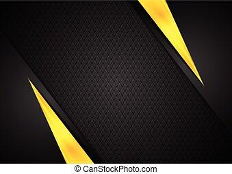 Dark contrast black yellow background. Vector design
