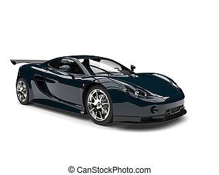 Dark coral blue modern fast super car