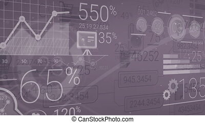 Dark Corporate Background With Abstract Elements Of Infographics