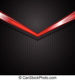 Dark corporate background with glow red arrow
