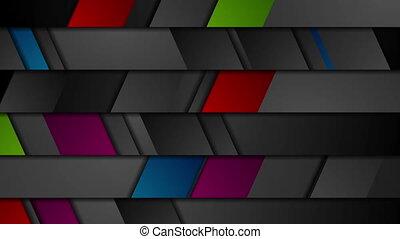 Dark corporate geometric abstract video animation - Dark...