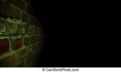 Dark corridor. Go along the wall in the dark.