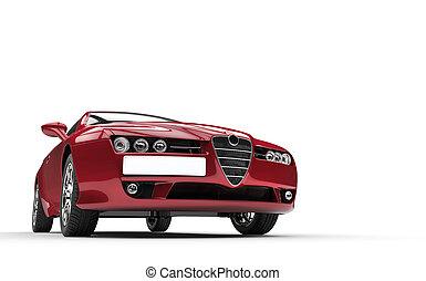 Dark Crimson Colored Car