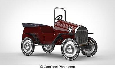 Dark crimson red vintage car