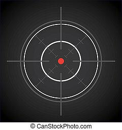 dark crosshair with red dot - illustration