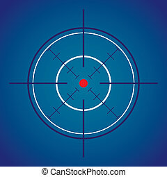 dark crosshair with red dot - illustration