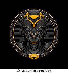Dark Cyborg Geometry Style