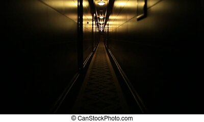 Dark dark corridor in the hotel