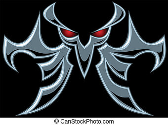 dark devil symbol on the black background