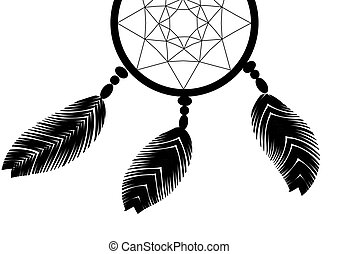 dark dreamcatcher on a white background illustration
