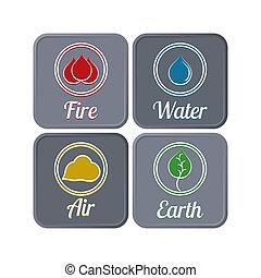 Dark ecological icons
