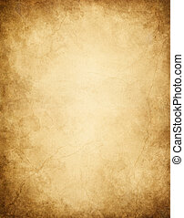Dark Edged Paper - Old paper with dark edges, stains, and...