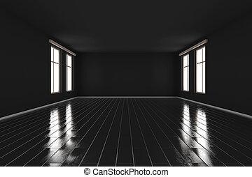 Dark empty room Illustration