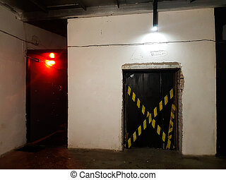 dark empty room in the underground style