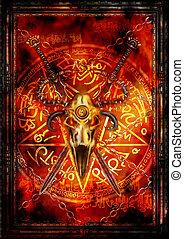 Dark fantasy cover or a card - Illustration fantasy...