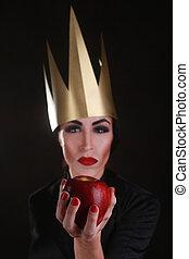 Dark Fantasy Villain Character Wearing Golden Crown - ...