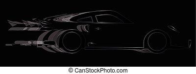 Dark Fast Car