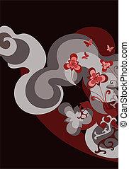 exotic stylised wildflower background