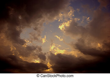 dark forboding storm clouds gathering