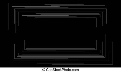 Dark futuristic linear frame abstract motion background. ...