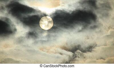 Dark gloom hide sun in obscurity