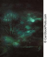 Dark Gloomy Landscape