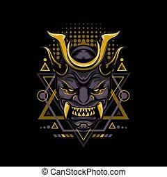 Dark Gold Geometry Style