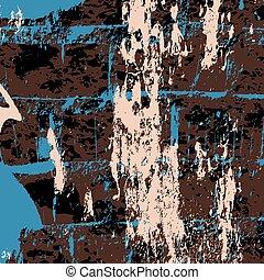 dark graffiti on a black background vector illustration