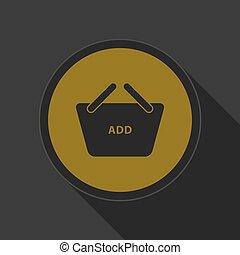 yellow icon - shopping basket add