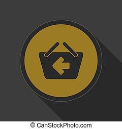 yellow icon - shopping basket back