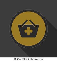 yellow icon - shopping basket plus