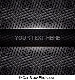 Dark gray metal background