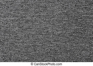 Dark gray natural linen fabric texture for the background. -...