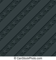 Dark gray stars and stripes wallpaper. 3d seamless...