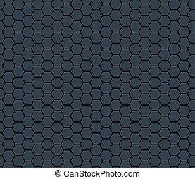 Dark gray technology hexagon honeycomb seamless pattern