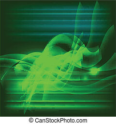 Dark green abstract swirl backgroun