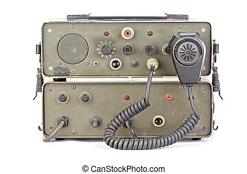 dark green amateur ham radio on white background - old dark...
