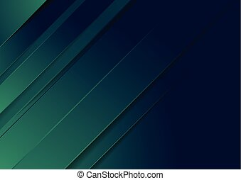 Dark green and blue stripes abstract background