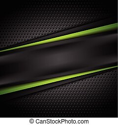 Dark green black tech abstract background