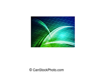 Dark green blue abstract smooth waves background
