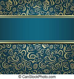 Dark Green Blue Invitation Card