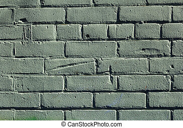 Green Bricks on a wall