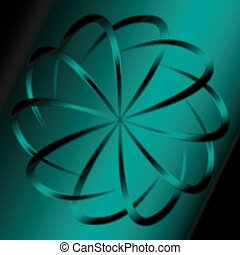 Dark green circular background