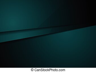 Dark green corporate tech design art. Vector background