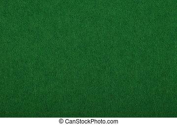 Dark green felt background texture close up